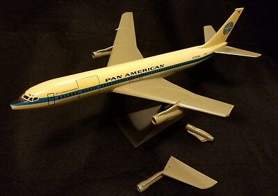Pan Am Boeing 707-321C Clipper Courser plastic desk model 150 scale for repair