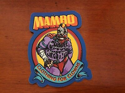 "Mambo "" Clothing For Clowns "" 1997 Label By Steve Bliss"