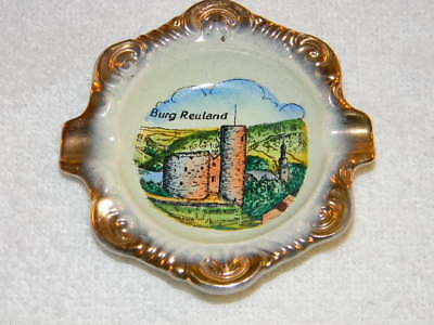 Vintage Belgium Burg Reuland ashtray- marked West Germany on back & Hoehr- HTF