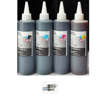 2x30ml Refill black ink for Epson 126 T126 127 T127 WF 645 840 845 7510 7520