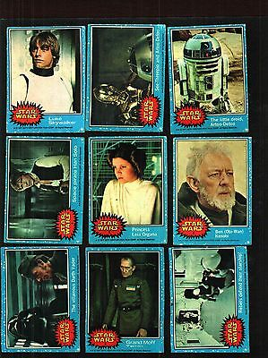 1977 Topps Star Wars Cards Series 1 Blue Good To Very Good Condition