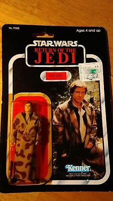 VINTAGE STAR WARS ROTJ CARDED HAN SOLO TRENCH COAT endor