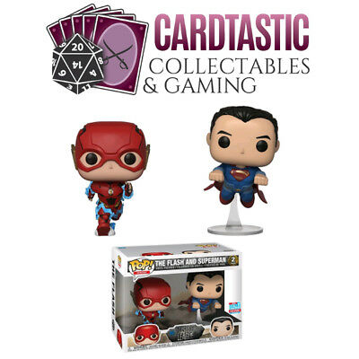 POP! DC Justice League - The Flash and Superman Race 2 Pack NYCC 2018 (RS)