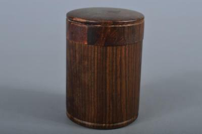 R5136: Japanese Wooden TEA CADDY Natsume Chaire Container Tea Ceremony