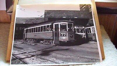 1948-52 Trolley Car - Cincinnati Lines Ohio Photograph (11 x 14) Howard Ameling
