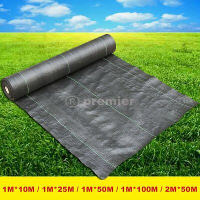 2m wide 100m weed control fabric ground cover membrane landscape mulch garden