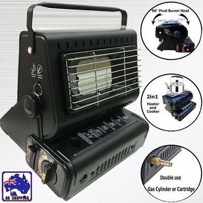Portable Heater Stove Cooker Dual Gas Supply Camping Outdoor OBBQ59805