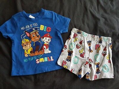 Boys new PAW PATROL pj set size 0