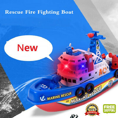 Pool Bath Toys For Kids Music Light Electric Fire Fighting Boat Classic Children