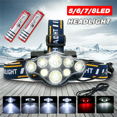 90000LM High power T6 LED Headlamp Headlight Flashlight Head Torch Lamp Fishing