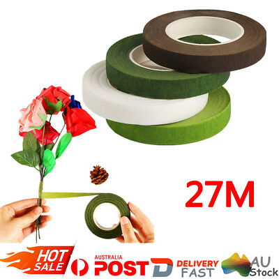 2/4 Rolls 2 Colours Waterproof Wedding Florist Craft Stem Wrap Floral Paper Tape
