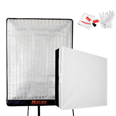 FalconEyes Bi-Color RX-18TD video LED light Kit for photography+ Square Soft box