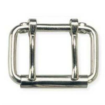 "Roller Buckle Two Prong 2-1 2"" Nickel Plated Belt Design Accent Tandy 1556-00 -"