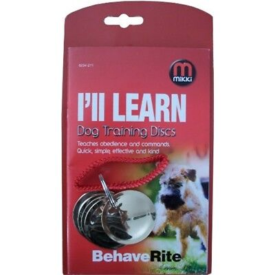 Mikki Dog Training Discs For Dog Obedience And Agility - Puppy Clicker