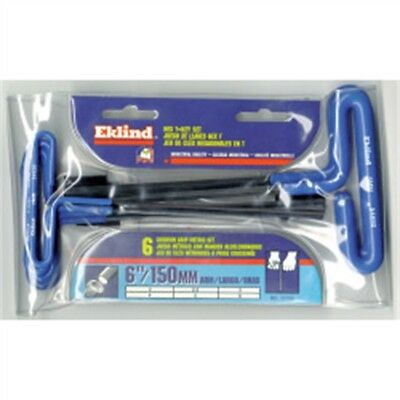 "Eklind Tool Company 55166 6 Piece 6"" Cushion Grip Metric T-handle Hex Key Set -"