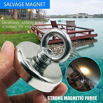 112Kg 60mm Strong Salvage Recover Magnet Neodymium Hook Treasure Fishing Hunting