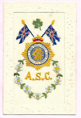 Embroidered Postcard A. S. C