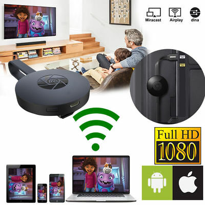 Dispositivo Cromecast Miracast Wireless Hdmi Mirror Share Streaming Player Rapid