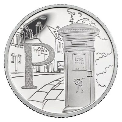 "New 10p P - Post Office ""2018"" - Free Postage"