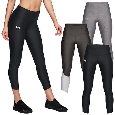 Under Armour Ladies Fly Fast Ankle Crop Leggings High Waist Gym Training Running