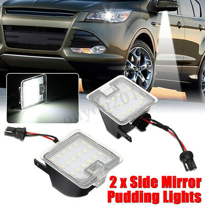 2x Side Mirror LED Puddle Light Error Free Fit For Ford Mondeo MK4 IV 2007-2014
