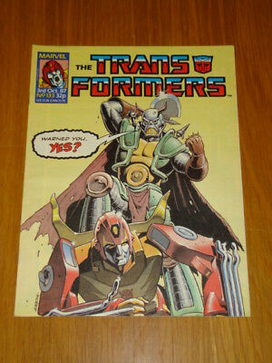Transformers British Weekly #133 Marvel Uk Comic 1987