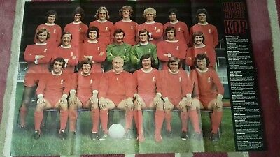 """Large Liverpool FC Poster """"The Top Teams"""" from Mid 1970s"""