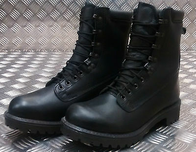 Genuine British Army S10 Goretex Waterproof Assault Black Leather Boots - NEW DF