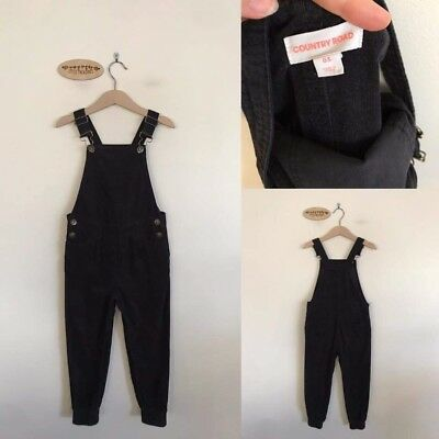 Sz 5 Country Road black cord overalls