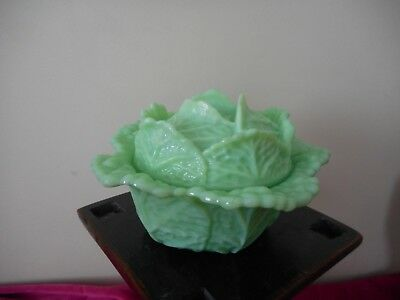 Antique vintage French opaline glass cabbage Vallerysthal