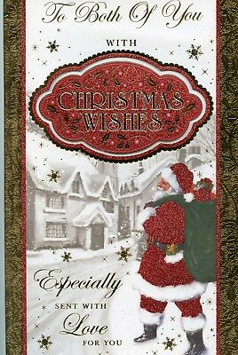 TO BOTH OF YOU CHRISTMAS EXTRA LARGE CARD WITH LOVELY VERSES