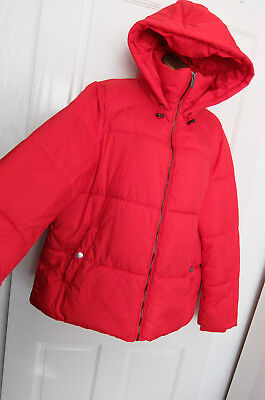 GEORGE ● size 18 ● red hooded puffa jacket coat womens ladies