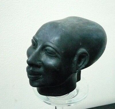 RARE ANCIENT EGYPTIAN ANTIQUE Head of Akhenaten Nefertiti Daughter 1334-1300 BC