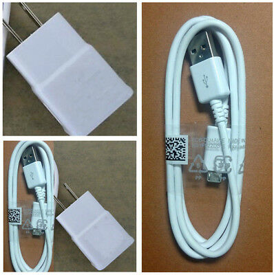 US White Wall Charger+USB Data Cable For SamSung Galaxy I9500 Note 3 N7100 S5