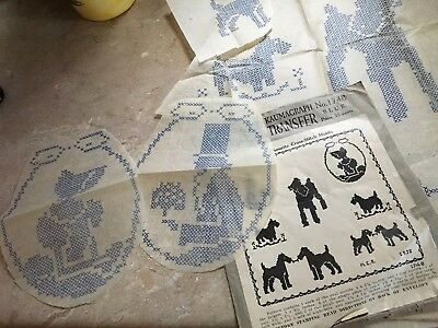 McCALL Kaumagraph Transfer Pattern No.1748 Silhouette, Dogs Cross-Stitch 1930s