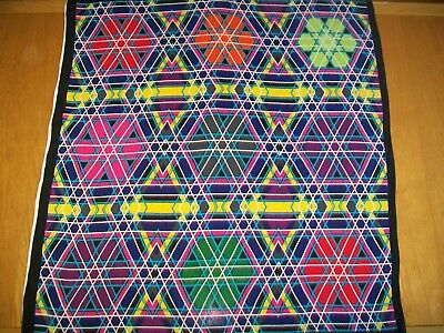 Marcel Wanders. A Stunning Large Colour Block / Geometric Vintage Silk Scarf