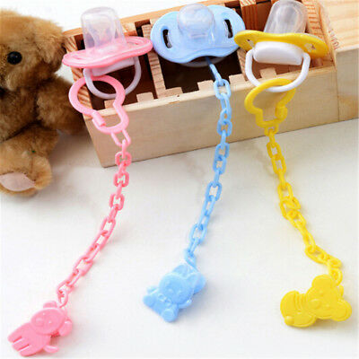 2pcs Cartoon Baby Pacifier Chain Clip Anti Lost Dummy Soother Nipple Holder FR