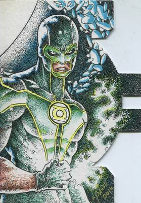 Cryptozoic DC Comics Justice League 2016 Die-Cut Sketch Card By Norvierto Basio
