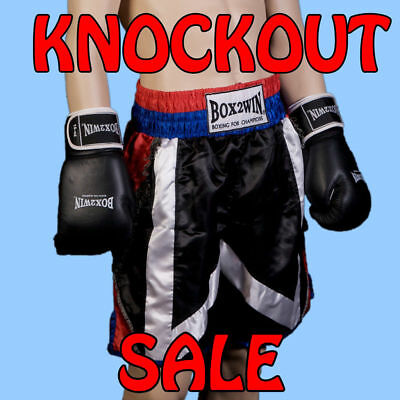 New Box2Win Tassle Professional Mens Boxing shorts in Various sizes XXS XS S M L
