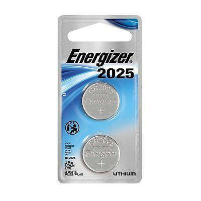 Energizer Lithium Coin #2025 3 Volt Batteries for Watches Electronics (2-pack)
