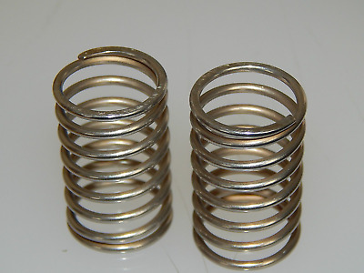 """2 x Helical Compression Springs, Stainless Steel, Length 1 7/16"""", Diam 7/8"""" [S4]"""