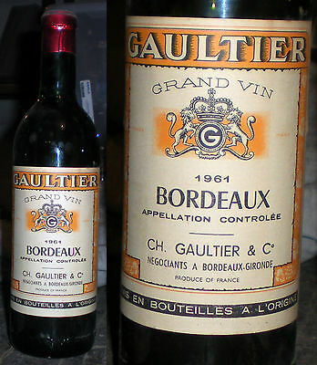 1961-Bordeaux_Cantine Gaultier_Bordeaux Wine-Gaultier Winery