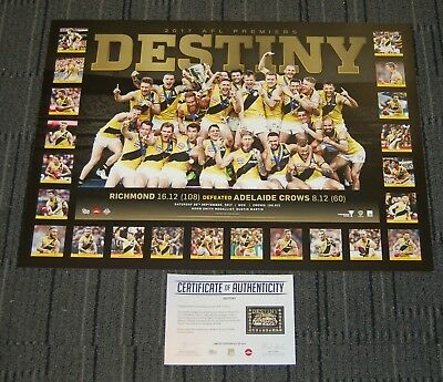 Richmond 2017 Afl Premiership Limited Destiny Print Cotchin Martin Riewoldt