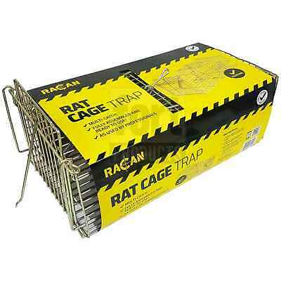 Racan 1 x Multi-Catch Live Capture Humane Rat Cage Trap - No Poison or Kill