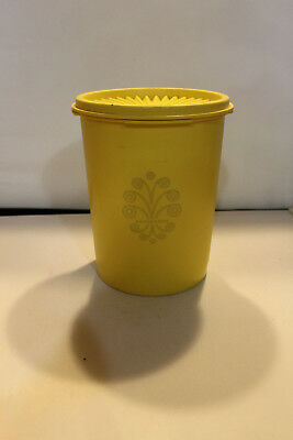 Vintage Tupperware Yellow Canister