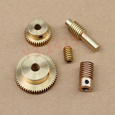 0.5 Modulus Brass Gear 20T/30T/40T/50T/60Tooth,Worm3-6mm Hole Dia. Drive Gearbox