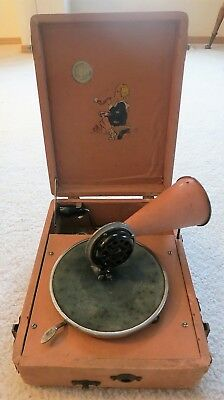 Vintage 1920's Child 78 RPM Record Portable Phonograph #1 - Hear It Play