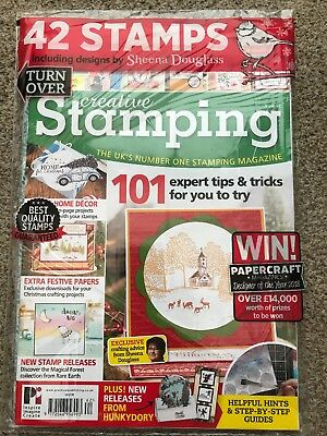CURRENT ISSUE creative stamping magazine Including 42 SHEENA DOUGLASS STAMPS