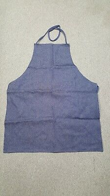 """Apron, denim blue 100% cotton shop / work apron 36"""" X 29"""" made in the USA"""