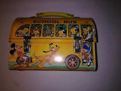 Disney School Bus Lunch Box and Thermos 1970's